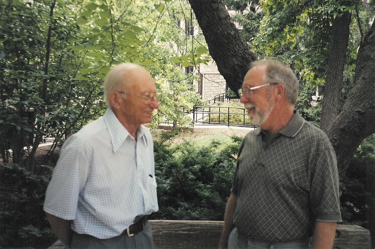John Holik and Will Goudy (Photo taken in 1995)